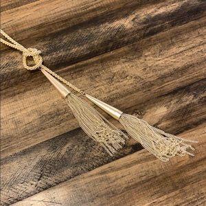 Kendra Scott Gold Tassel Necklace